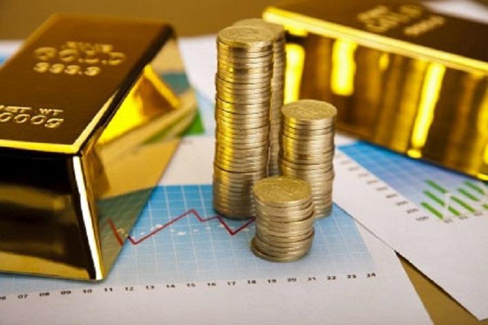 gold bar or gold coin