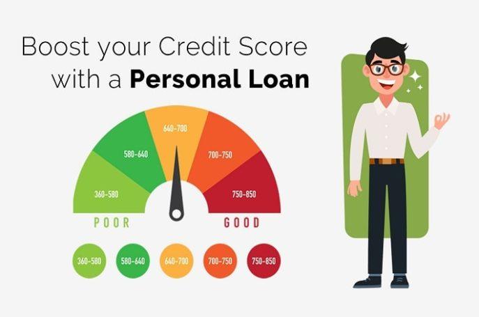 improve CIBIL score using a personal loan