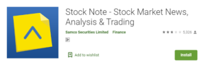 Stock Note Mobile Trading App from Samco