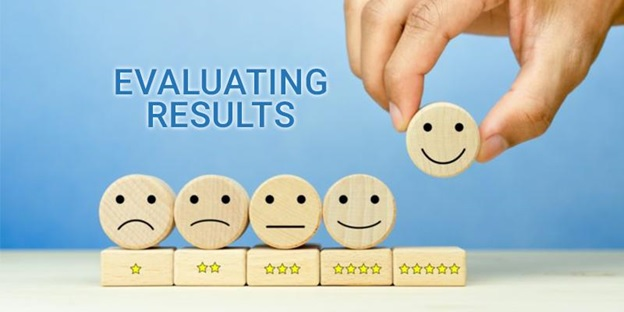 evaluating the desired results obtained